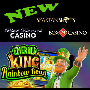 MEmerald King Rainbow Road is live at Black Diamond Casino, Box24 Casino, and Spartan Slots Casino