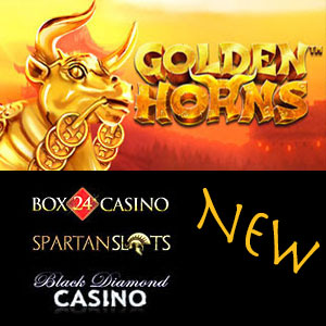 Golden Horns is live at Black Diamond Casino, Box24 Casino, and Spartan Slots Casino