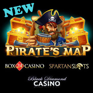 Pirates Map  at Black Diamond Casino, Box24 Casino, and Spartan Slots Casino