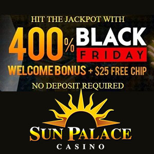 Black Friday Bonus at Sun Palace Casinos