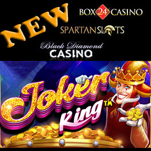 Joker King is live at Black Diamond Casino, Box24 Casino, and Spartan Slots Casino