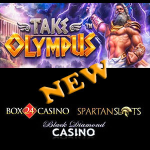 Take Olympus is live at Black Diamond Casino, Box24 Casino, and Spartan Slots Casino