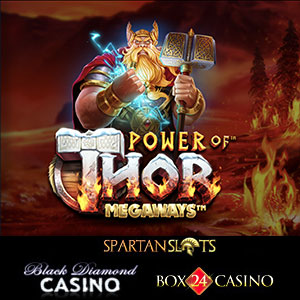 Power of Thor Megaways is live at Black Diamond Casino, Box24 Casino, and Spartan Slots Casino