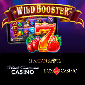 Wild Booster is live at Black Diamond Casino, Box24 Casino, and Spartan Slots Casino