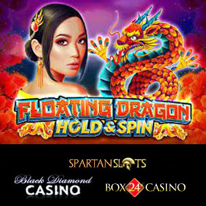 Floating Dragon is live at Black Diamond Casino, Box24 Casino, and Spartan Slots Casino