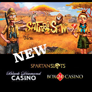 Safari Sam 2  is live at Black Diamond Casino, Box24 Casino, and Spartan Slots Casino